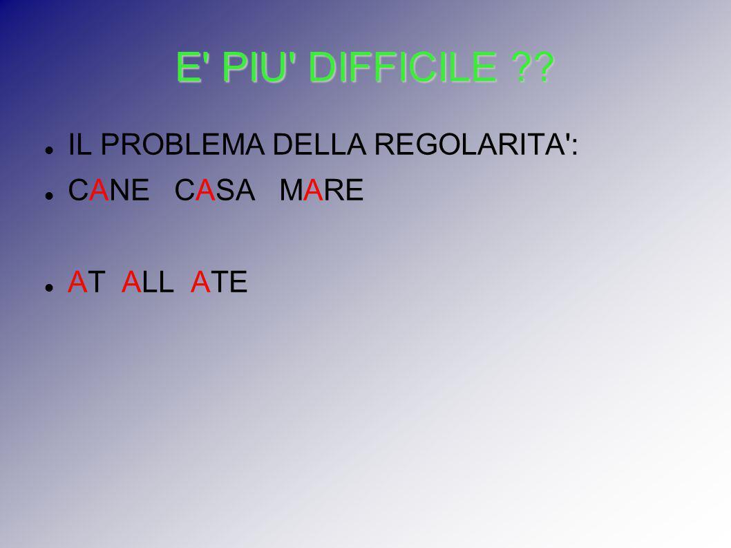 E PIU DIFFICILE IL PROBLEMA DELLA REGOLARITA : CANE CASA MARE