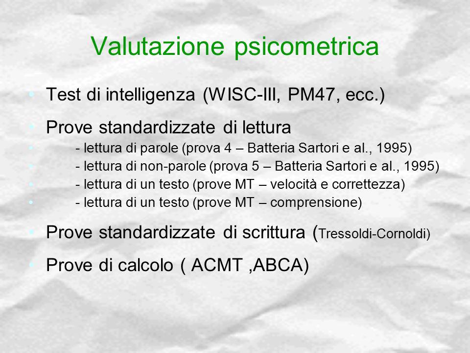 Valutazione psicometrica