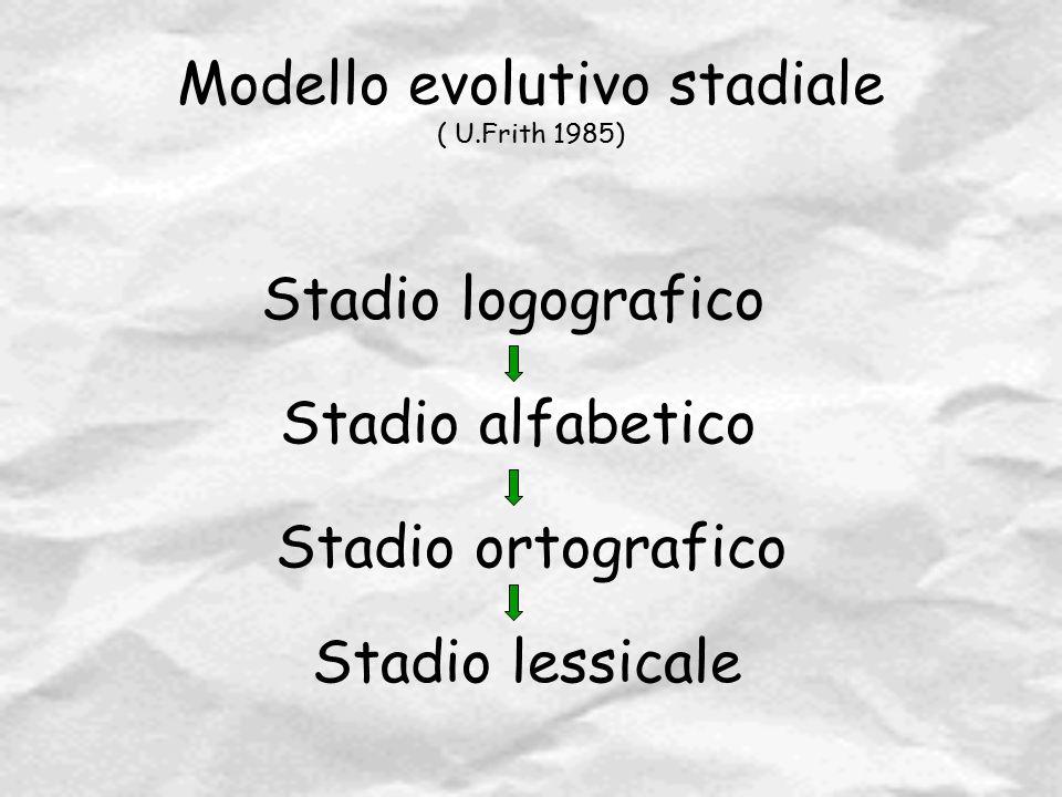 Modello evolutivo stadiale ( U.Frith 1985)