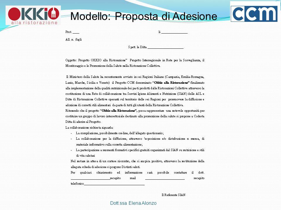 Modello: Proposta di Adesione