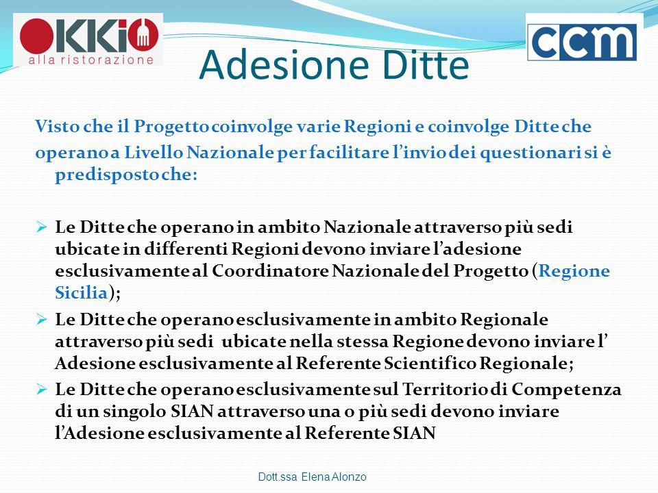 Adesione Ditte Visto che il Progetto coinvolge varie Regioni e coinvolge Ditte che.