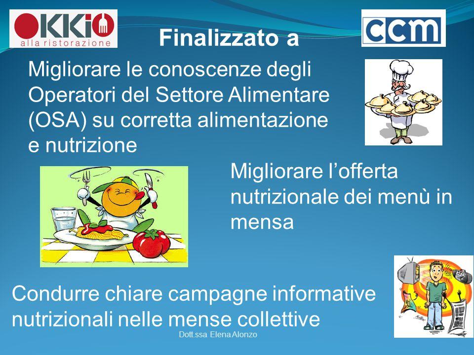 Finalizzato a Migliorare le conoscenze degli Operatori del Settore Alimentare (OSA) su corretta alimentazione e nutrizione.