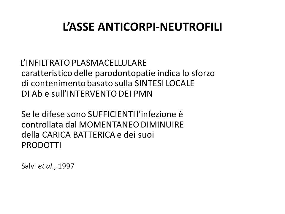 L'ASSE ANTICORPI-NEUTROFILI