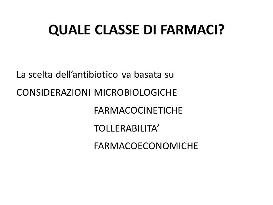 QUALE CLASSE DI FARMACI