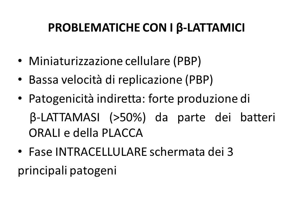 PROBLEMATICHE CON I β-LATTAMICI