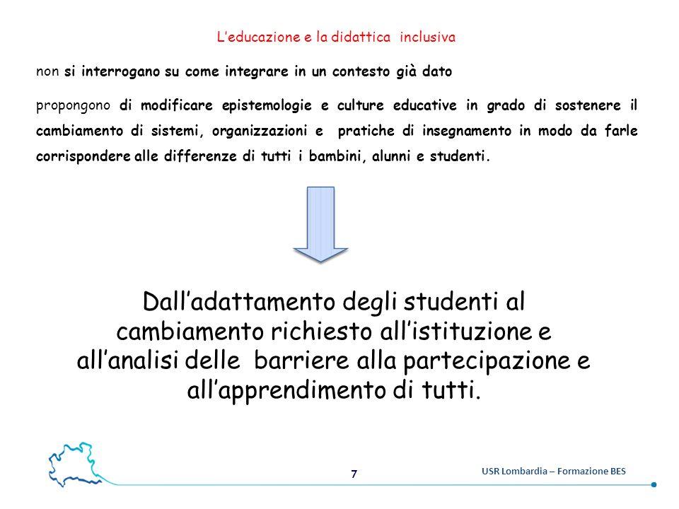 L'educazione e la didattica inclusiva