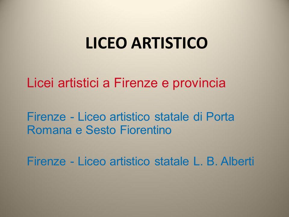 LICEO ARTISTICO Licei artistici a Firenze e provincia