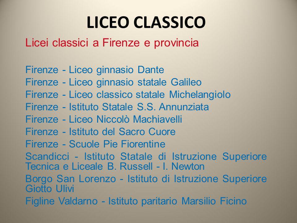 LICEO CLASSICO Licei classici a Firenze e provincia