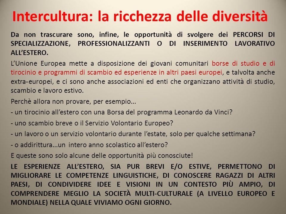 Intercultura: la ricchezza delle diversità