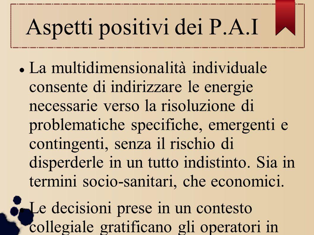 Aspetti positivi dei P.A.I