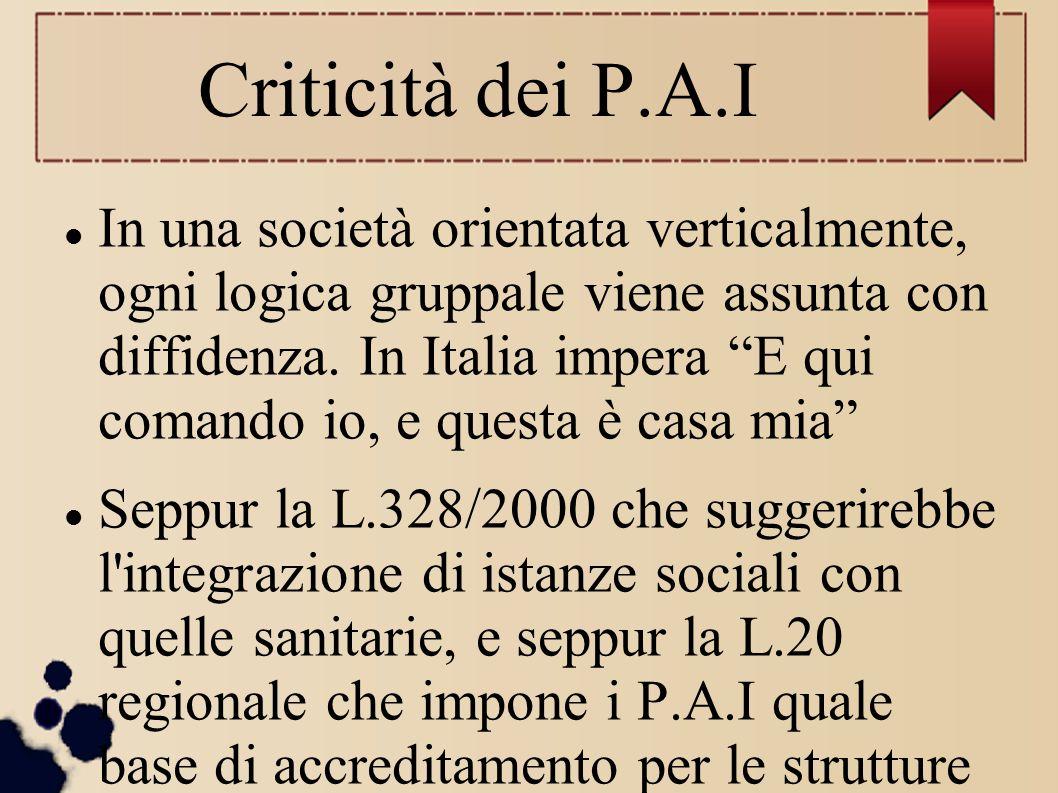 Criticità dei P.A.I