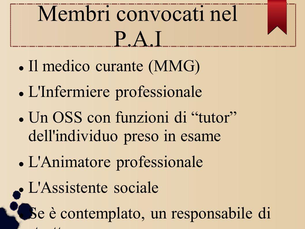 Membri convocati nel P.A.I