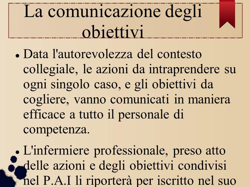 La comunicazione degli obiettivi