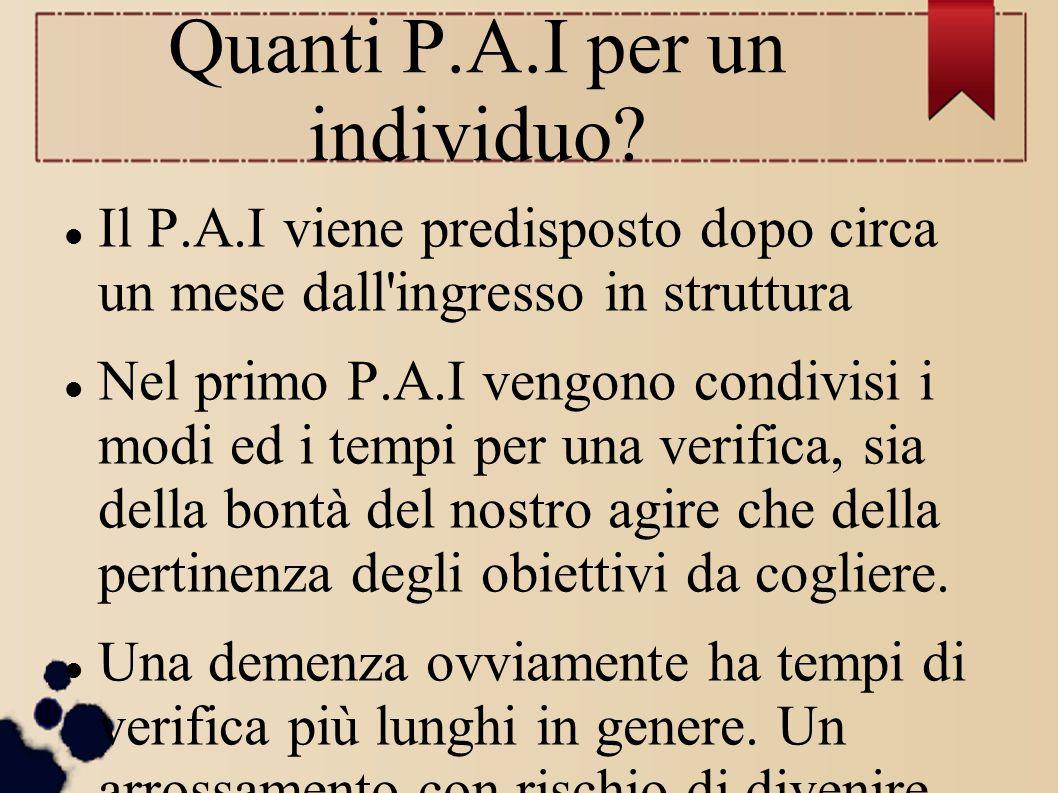 Quanti P.A.I per un individuo