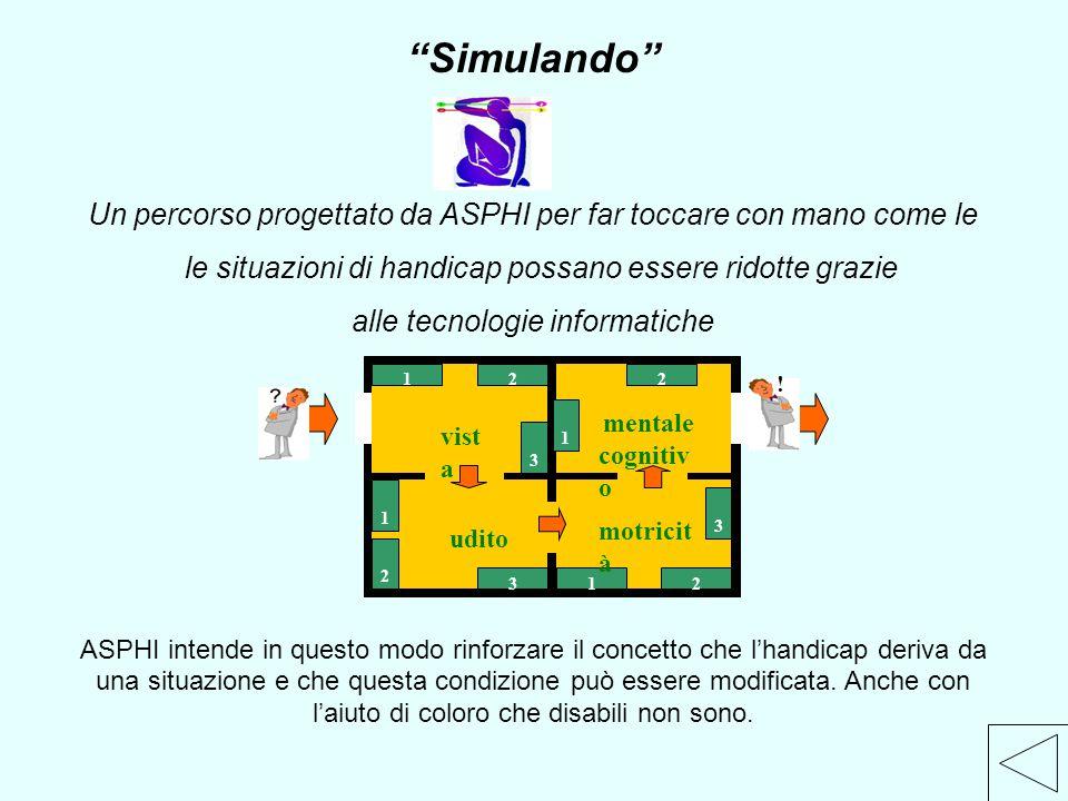 Simulando Un percorso progettato da ASPHI per far toccare con mano come le. le situazioni di handicap possano essere ridotte grazie.