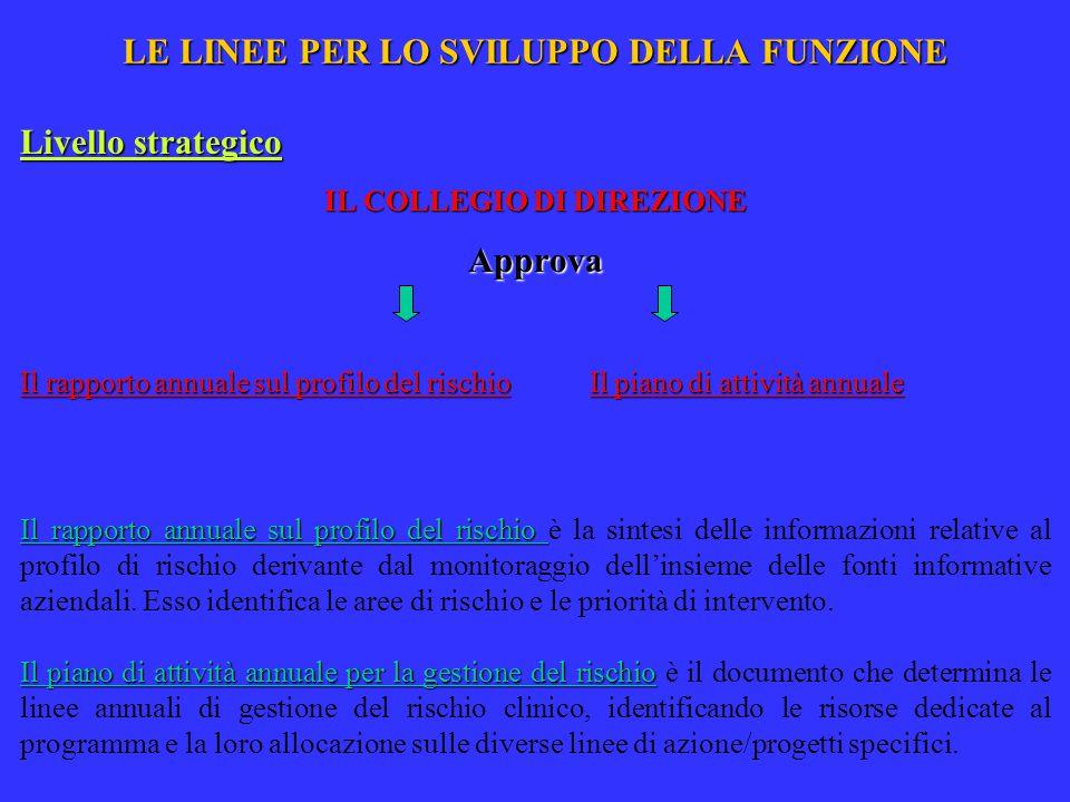 LE LINEE PER LO SVILUPPO DELLA FUNZIONE