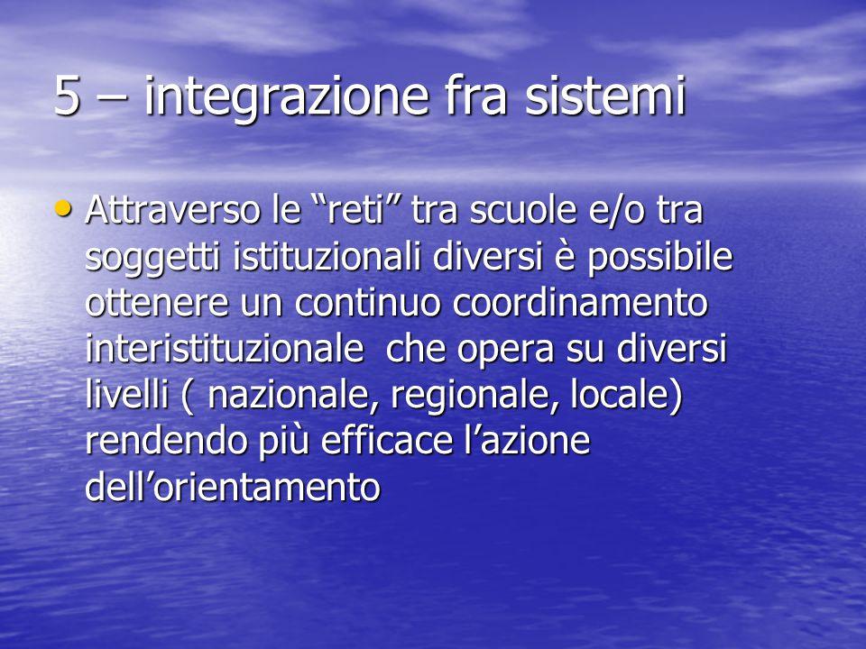 5 – integrazione fra sistemi