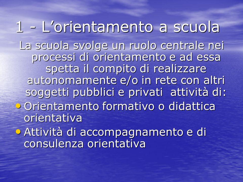 1 - L'orientamento a scuola