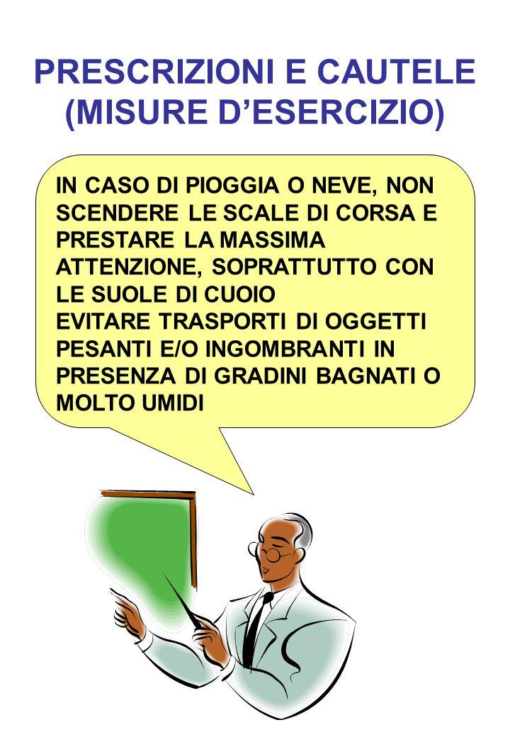 PRESCRIZIONI E CAUTELE (MISURE D'ESERCIZIO)