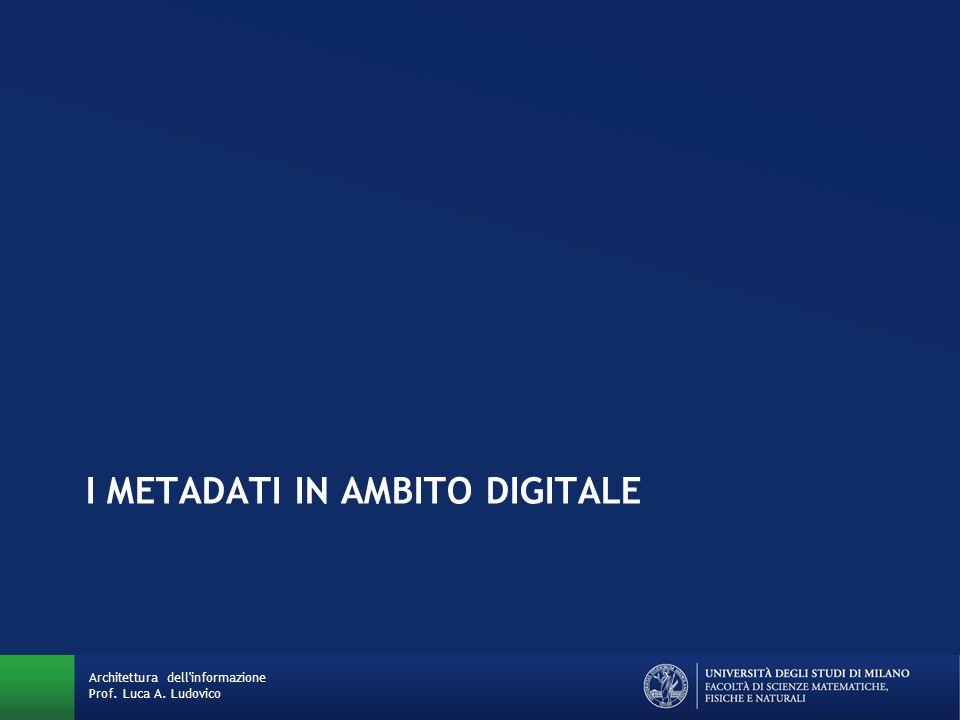 I metadati in ambito digitale