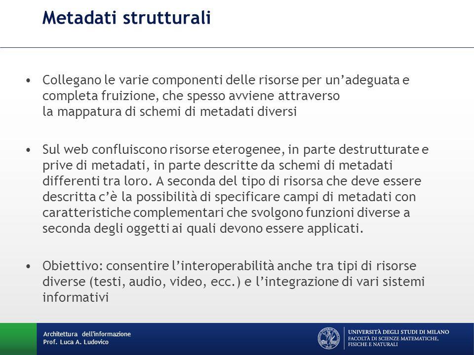 Metadati strutturali