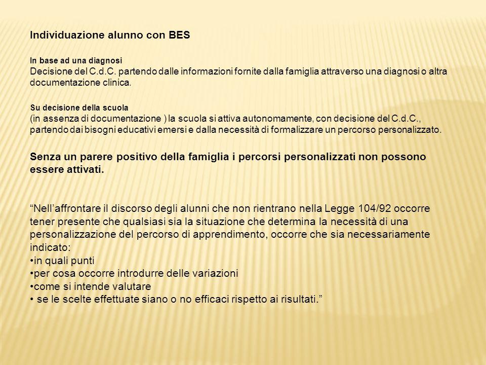 Individuazione alunno con BES