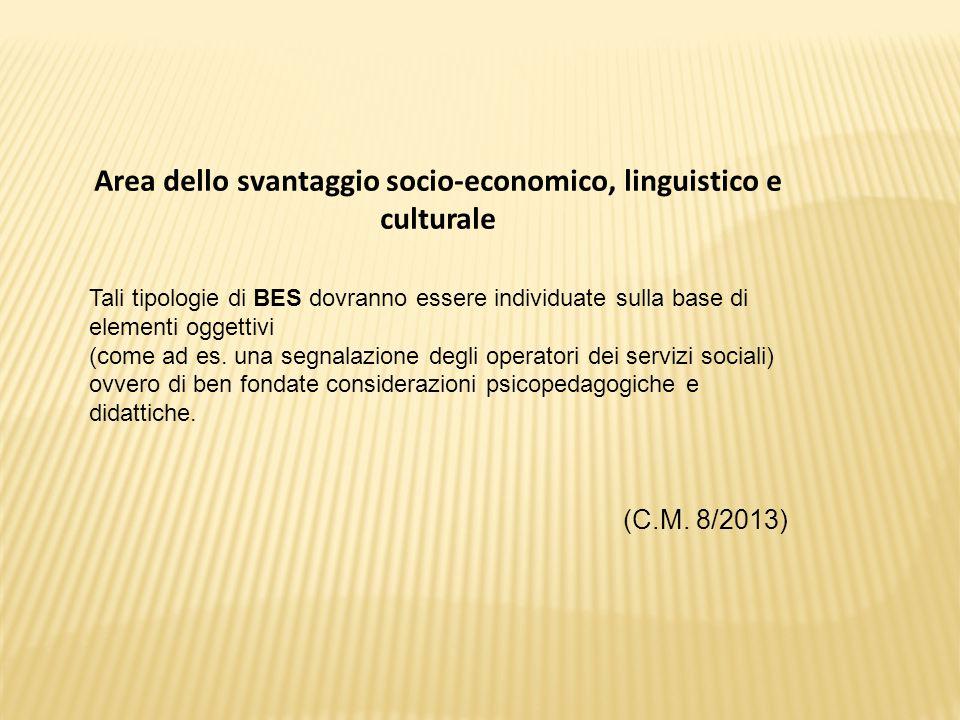 Area dello svantaggio socio-economico, linguistico e culturale