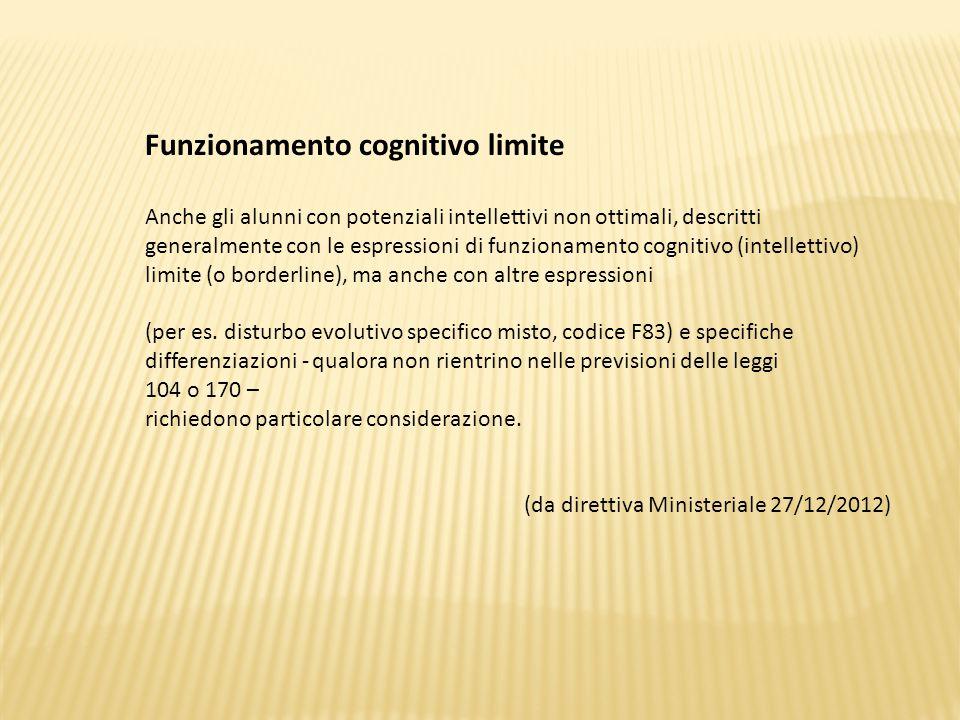 Funzionamento cognitivo limite