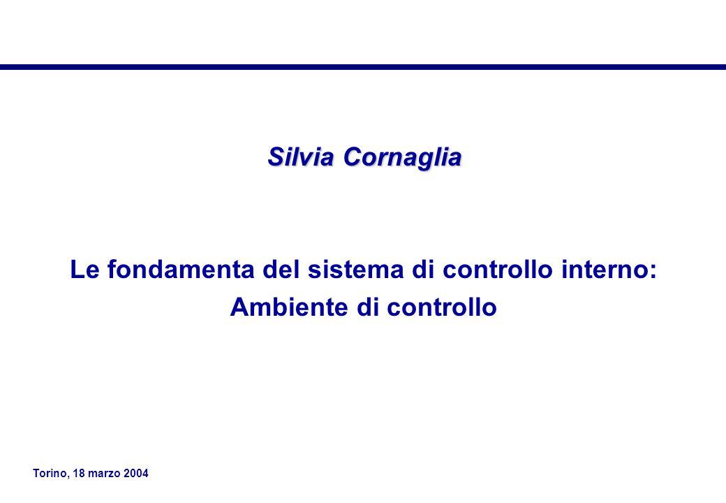 Le fondamenta del sistema di controllo interno: