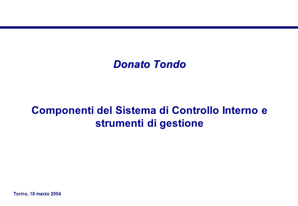 Componenti del Sistema di Controllo Interno e strumenti di gestione