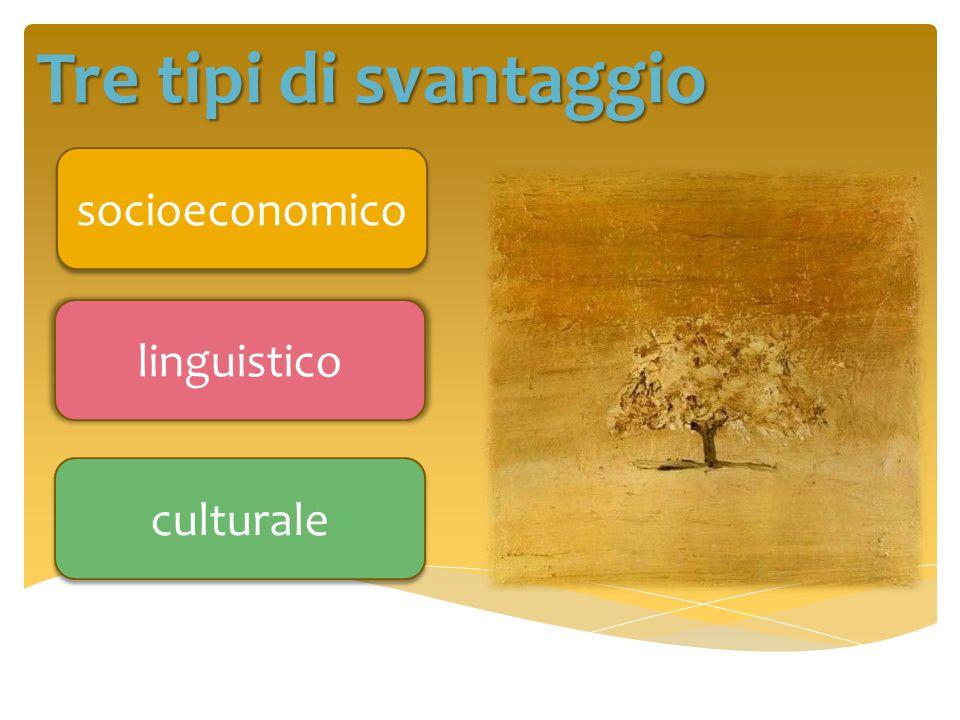 Tre tipi di svantaggio socioeconomico linguistico culturale