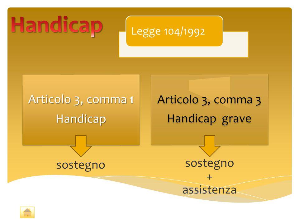 Handicap Articolo 3, comma 1 Handicap Articolo 3, comma 3