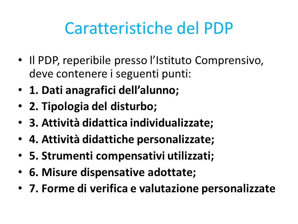 Caratteristiche del PDP