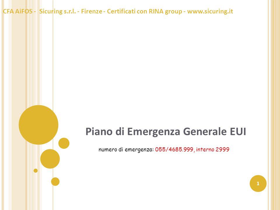 Piano di Emergenza Generale EUI