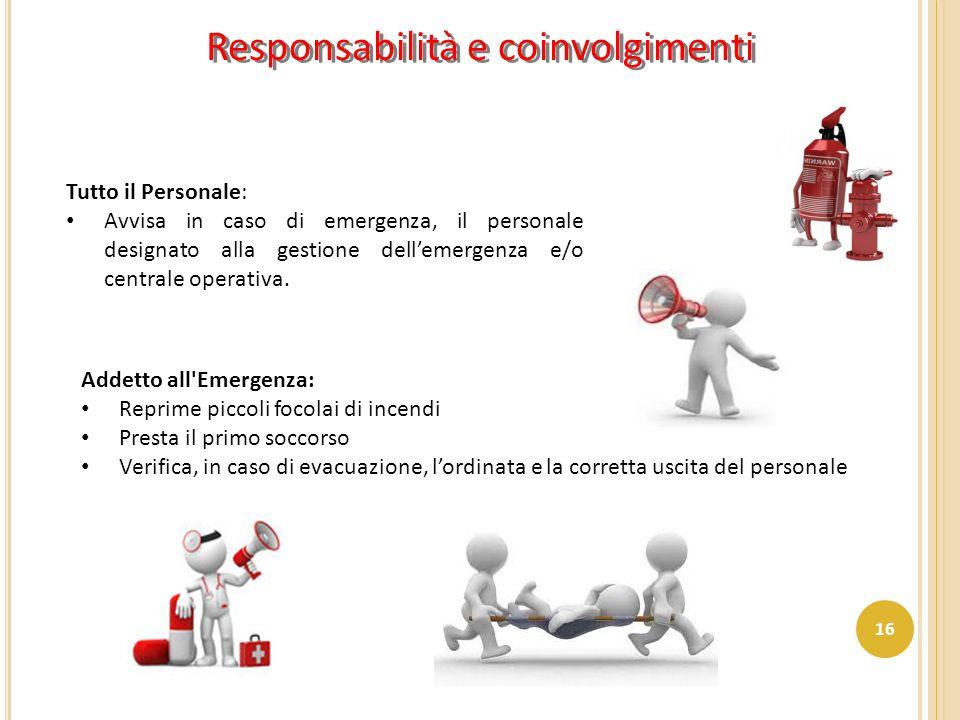 Responsabilità e coinvolgimenti