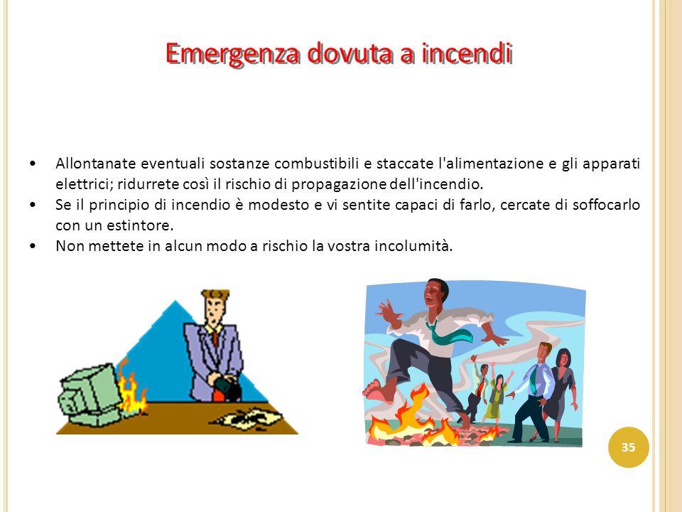 Emergenza dovuta a incendi