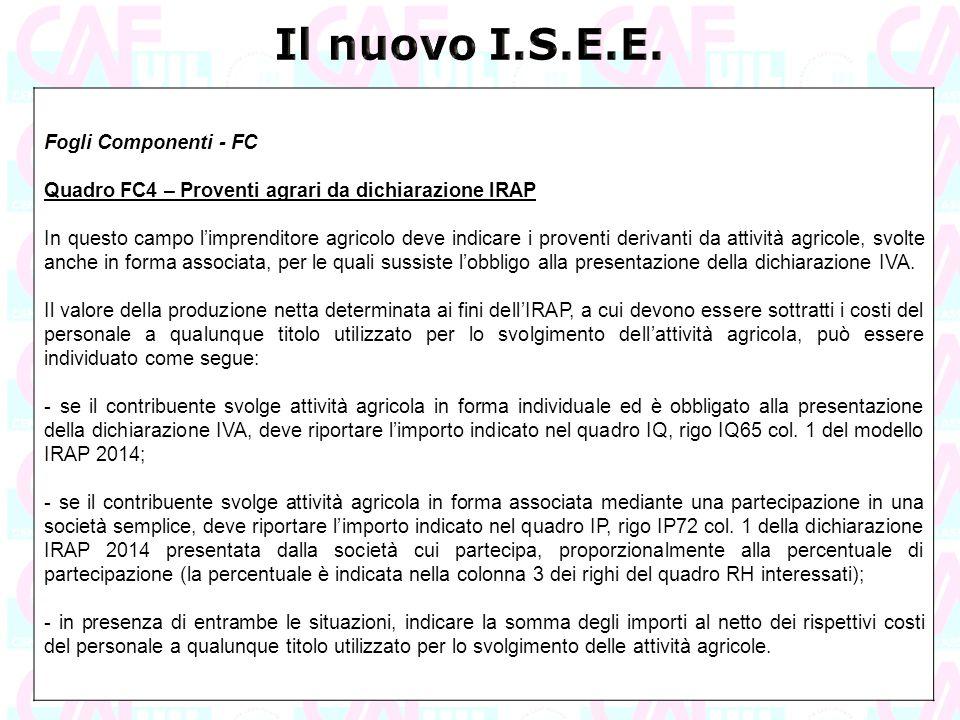 Il nuovo I.S.E.E. Fogli Componenti - FC