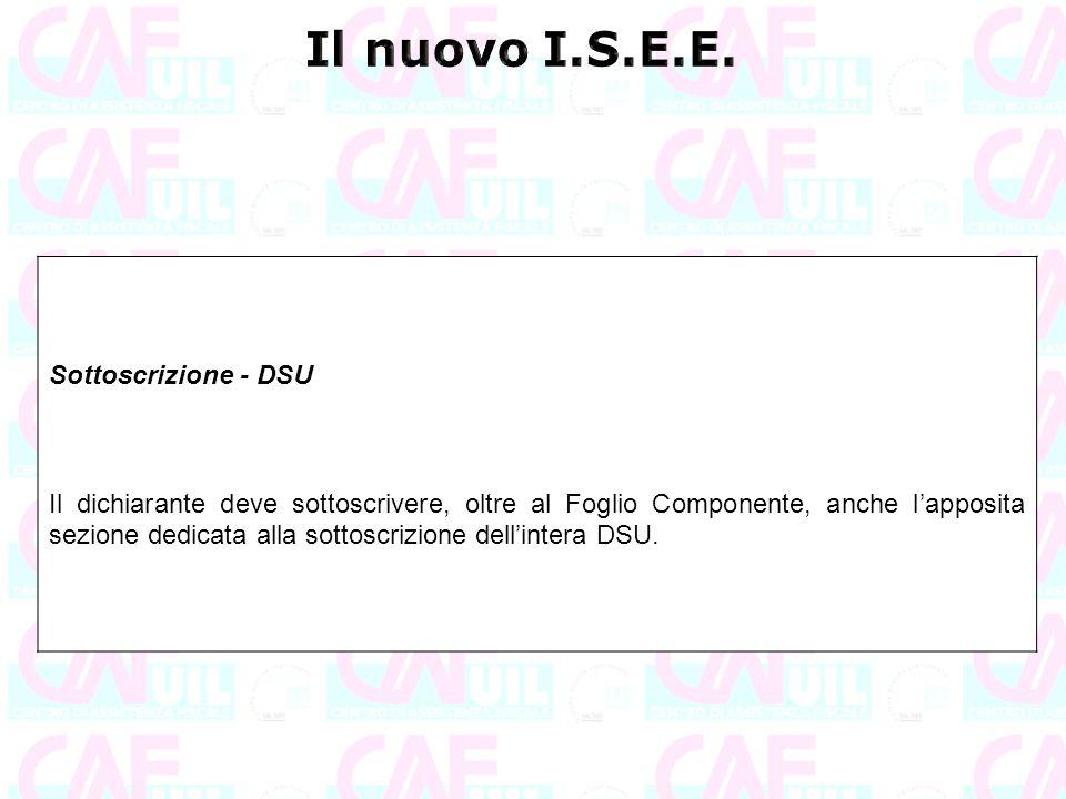 Il nuovo I.S.E.E. Sottoscrizione - DSU