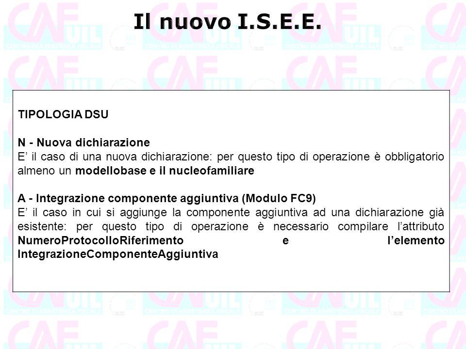 Il nuovo I.S.E.E. TIPOLOGIA DSU N - Nuova dichiarazione