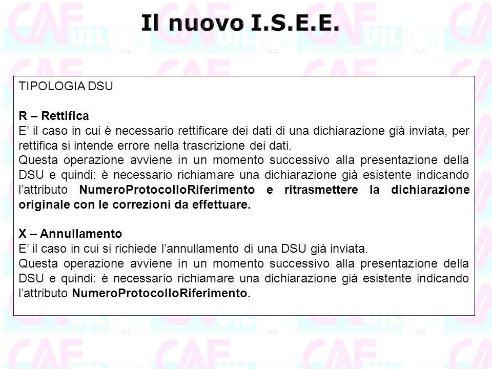 Il nuovo I.S.E.E. TIPOLOGIA DSU R – Rettifica