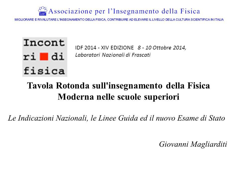 IDF 2014 - XIV EDIZIONE 8 - 10 Ottobre 2014, Laboratori Nazionali di Frascati