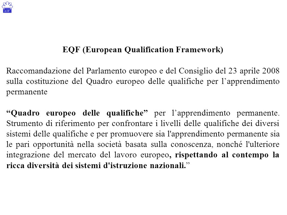 EQF (European Qualification Framework)