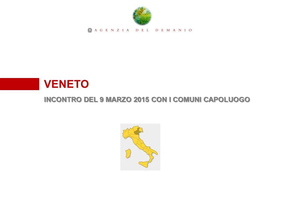 VENETO INCONTRO DEL 9 MARZO 2015 CON I COMUNI CAPOLUOGO