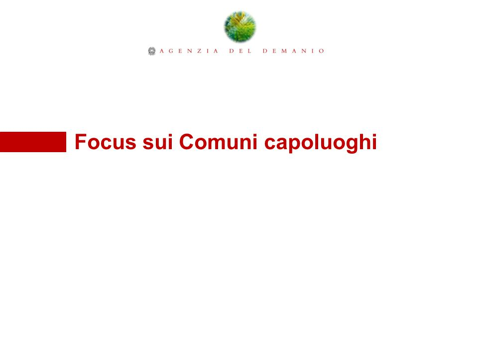 Focus sui Comuni capoluoghi