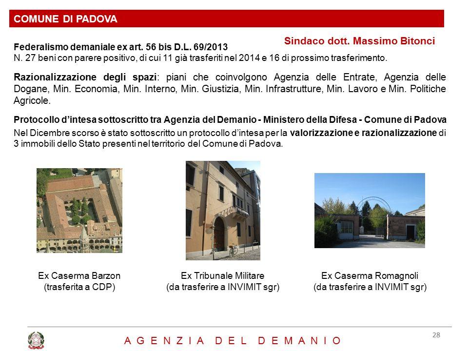 Sindaco dott. Massimo Bitonci