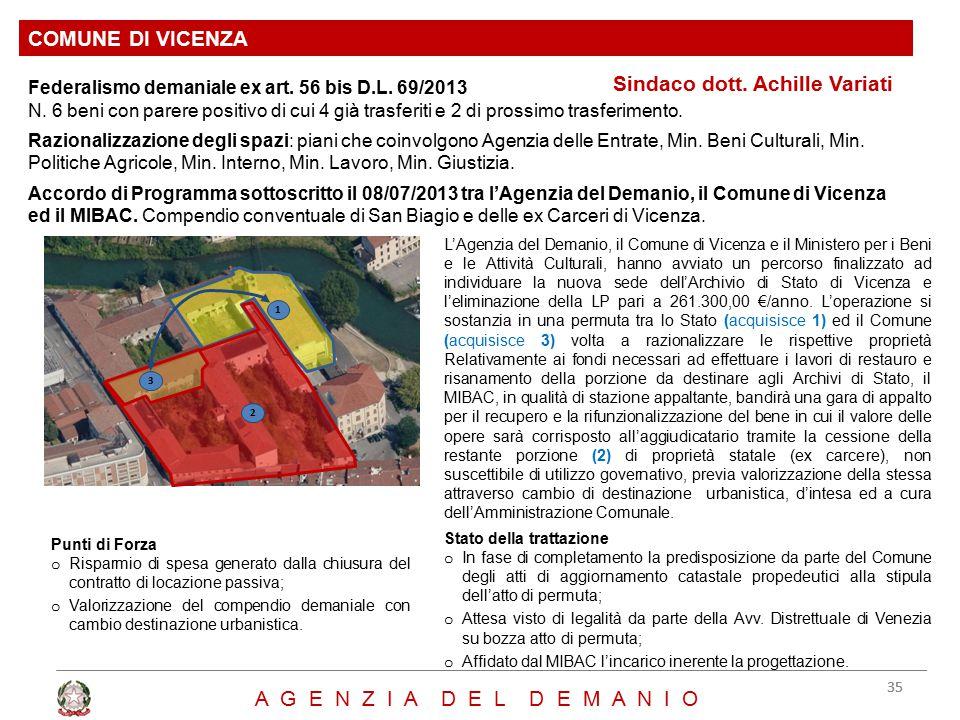 Sindaco dott. Achille Variati