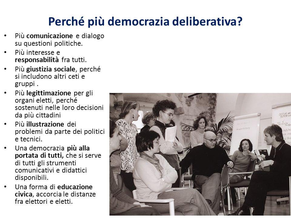 Perché più democrazia deliberativa