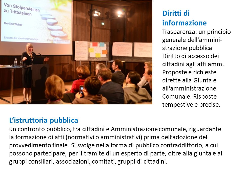 L'istruttoria pubblica