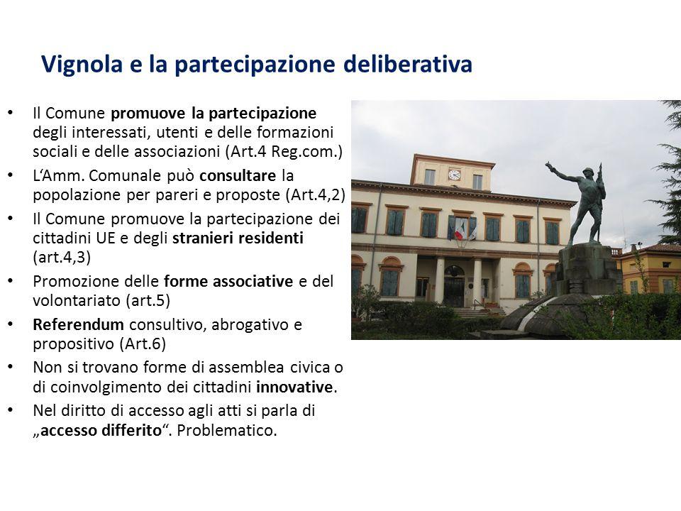 Vignola e la partecipazione deliberativa
