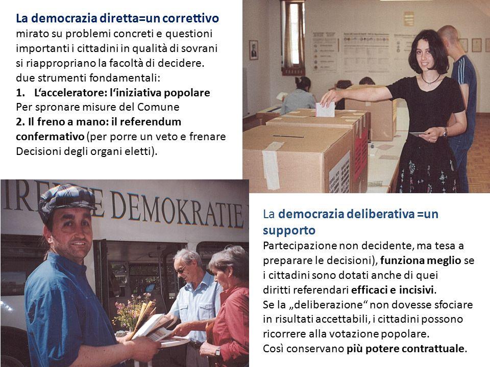 La democrazia diretta=un correttivo